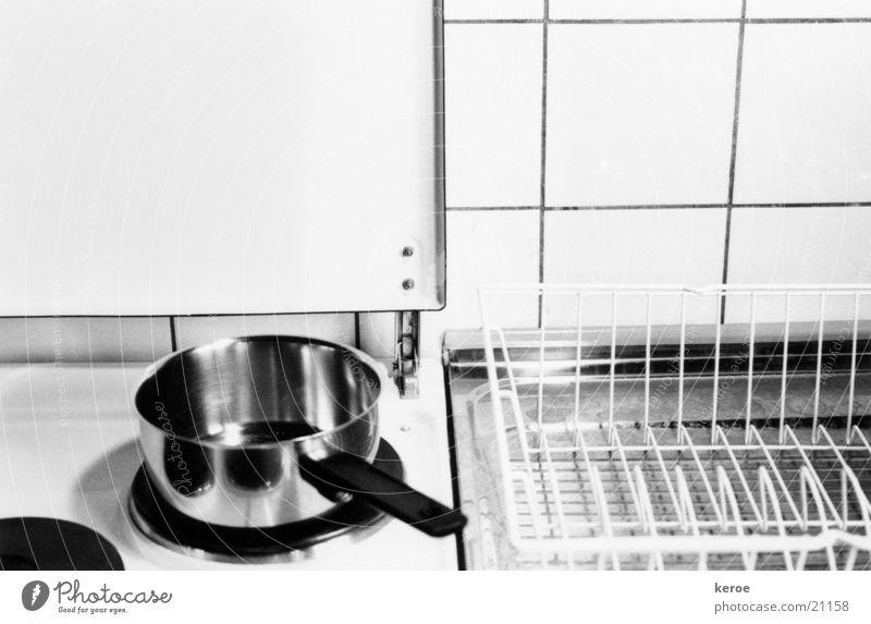 blitzeblank Herd & Backofen Topf Küche Schwarzweißfoto