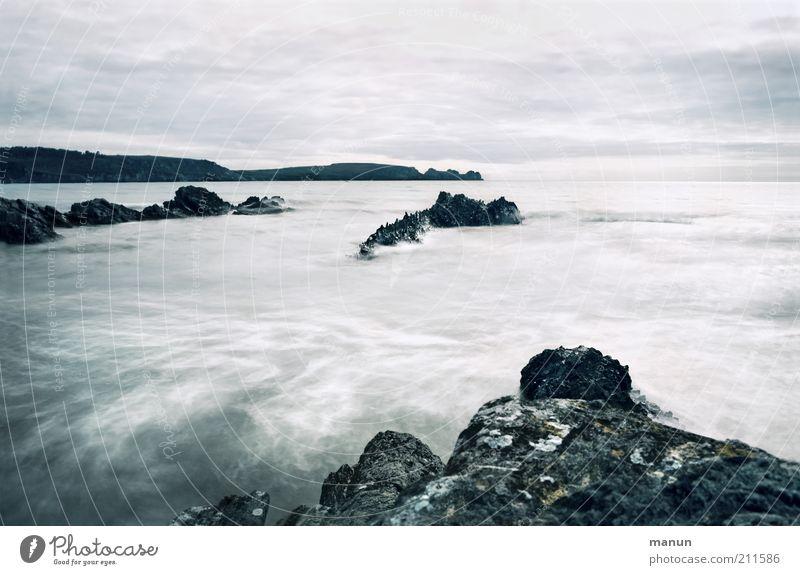 Bretagne V, Plage Goulien Ferien & Urlaub & Reisen Ferne Sommerurlaub Wellen Natur Landschaft Wasser Felsen Küste Strand Bucht Riff Meer Atlantik Flut Gezeiten