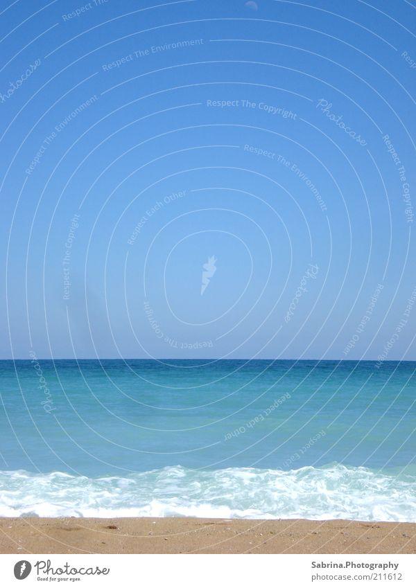 Blau, Blauer, Schwarzes Meer Natur Wasser Himmel Meer blau Sommer Strand Ferien & Urlaub & Reisen Ferne Sand Wärme Landschaft Wellen nass Horizont