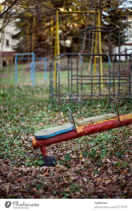 Niemand kommt Spielen Kindergarten Umwelt Natur Herbst Pflanze Einsamkeit Endzeitstimmung Erfahrung Leben stagnierend träumen Traurigkeit Verfall Vergangenheit