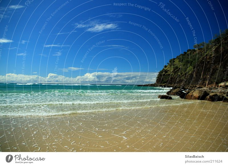 Schönster Strand der Welt Ferien & Urlaub & Reisen Ausflug Ferne Freiheit Sommerurlaub Meer Insel Wellen Wolkenloser Himmel Küste fantastisch einzigartig