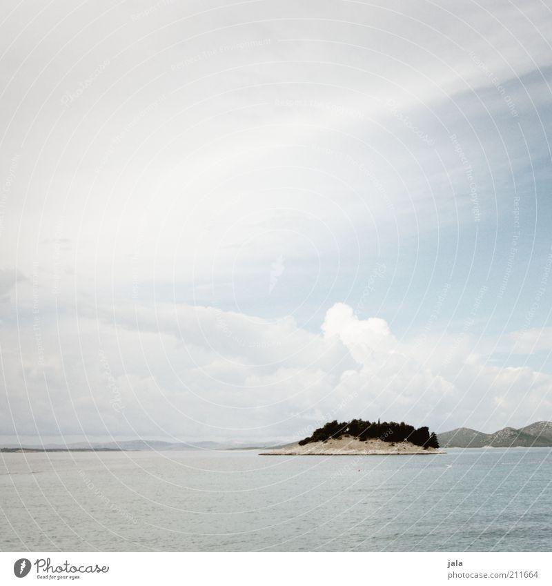 eyot Natur Himmel Meer Ferien & Urlaub & Reisen Wolken Ferne Landschaft Küste Insel Hügel Kroatien Adria