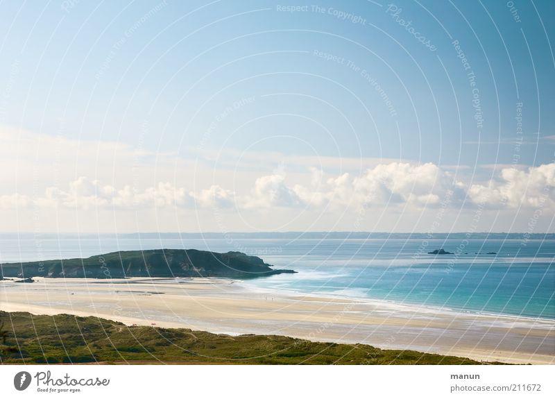 Bretagne VII, Plage de l' Aber Natur Himmel Sonne Meer Sommer Strand Ferien & Urlaub & Reisen Ferne Erholung Freiheit Landschaft Küste Ausflug Tourismus einzigartig Idylle