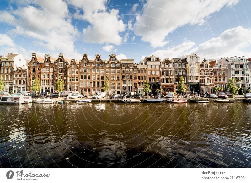 Townhouses in Amsterdam mit Gracht Freizeit & Hobby Ferien & Urlaub & Reisen Tourismus Ausflug Sightseeing Städtereise Häusliches Leben Wohnung Haus Traumhaus