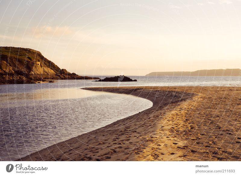 Bretagne VIII, île de l'Aber Natur Meer Sommer Strand Ferien & Urlaub & Reisen ruhig Einsamkeit Ferne Herbst Berge u. Gebirge Freiheit Landschaft Küste Umwelt Horizont Felsen