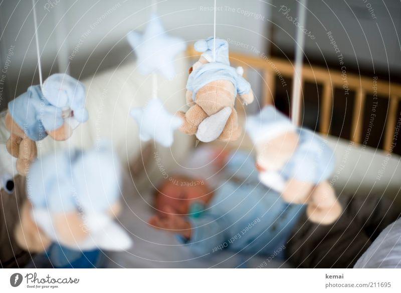 Greifen Spielen Spielzeug Teddybär Stofftiere Wohnung Mensch maskulin Kind Baby Junge Kindheit Arme Hand 1 0-12 Monate liegen schlafen klein niedlich greifen