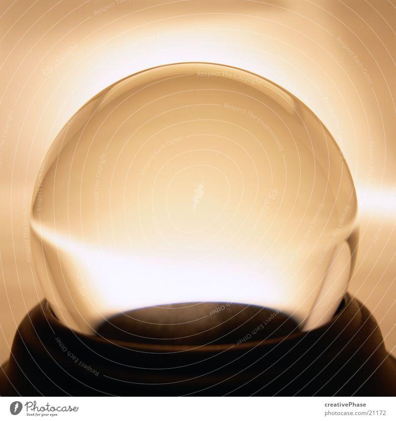 Glaskugel Licht rund obskur Kugel
