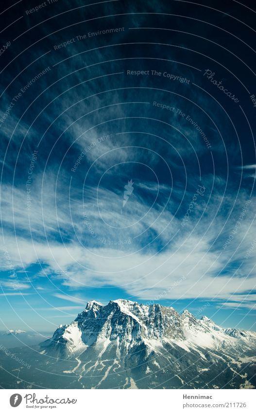 3. Schöpfungstag II. Natur schön Himmel weiß blau Winter Ferien & Urlaub & Reisen Wolken Ferne kalt Schnee Berge u. Gebirge Freiheit träumen Landschaft Erde
