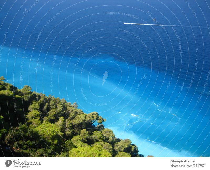 Porto Katsiki Magic Natur Wasser Baum Meer grün blau Sommer Ferien & Urlaub & Reisen Farbe Wald Erholung Gefühle Wärme Landschaft Wasserfahrzeug Stimmung