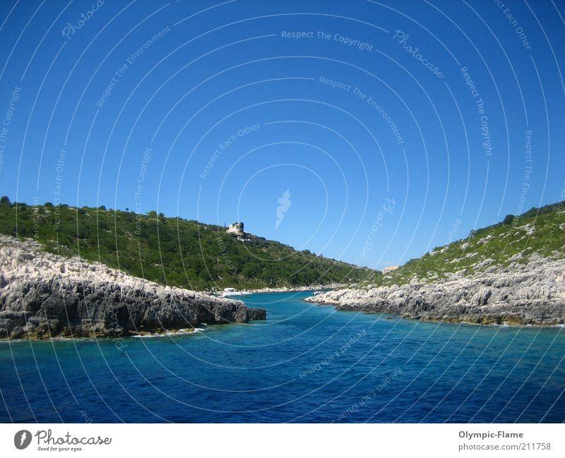 Paxi Lifestyle Ferien & Urlaub & Reisen Ausflug Kreuzfahrt Sommer Sommerurlaub Meer Insel Umwelt Natur Landschaft Wasser Wolkenloser Himmel Schönes Wetter