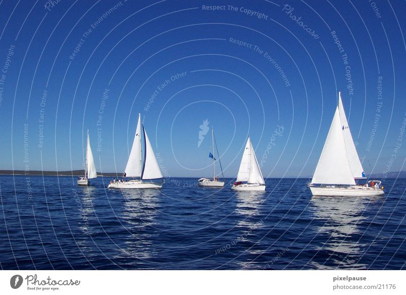 I am sailing Meer Segel Segelboot Windstille Regatta