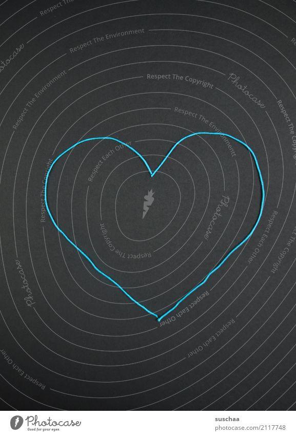 herzlich ... Liebe Kunst Kreativität Herz Idee einfach Zeichen Symbole & Metaphern Wolle Zuneigung herzförmig umrandet