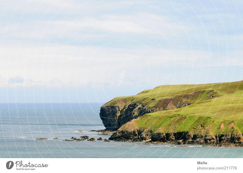 Auf großem Fuß Natur Wasser Himmel Meer grün blau Ferien & Urlaub & Reisen Einsamkeit Ferne Freiheit Stein Landschaft Stimmung Küste Umwelt frei