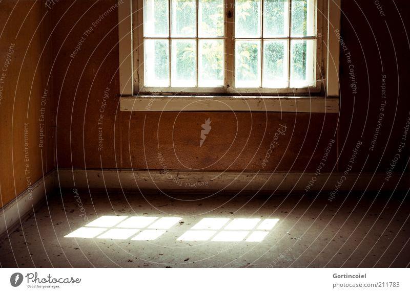 Zeit.Verloren alt Haus dunkel Wand Fenster Mauer Gebäude braun dreckig leer kaputt Bodenbelag verfallen Ruine