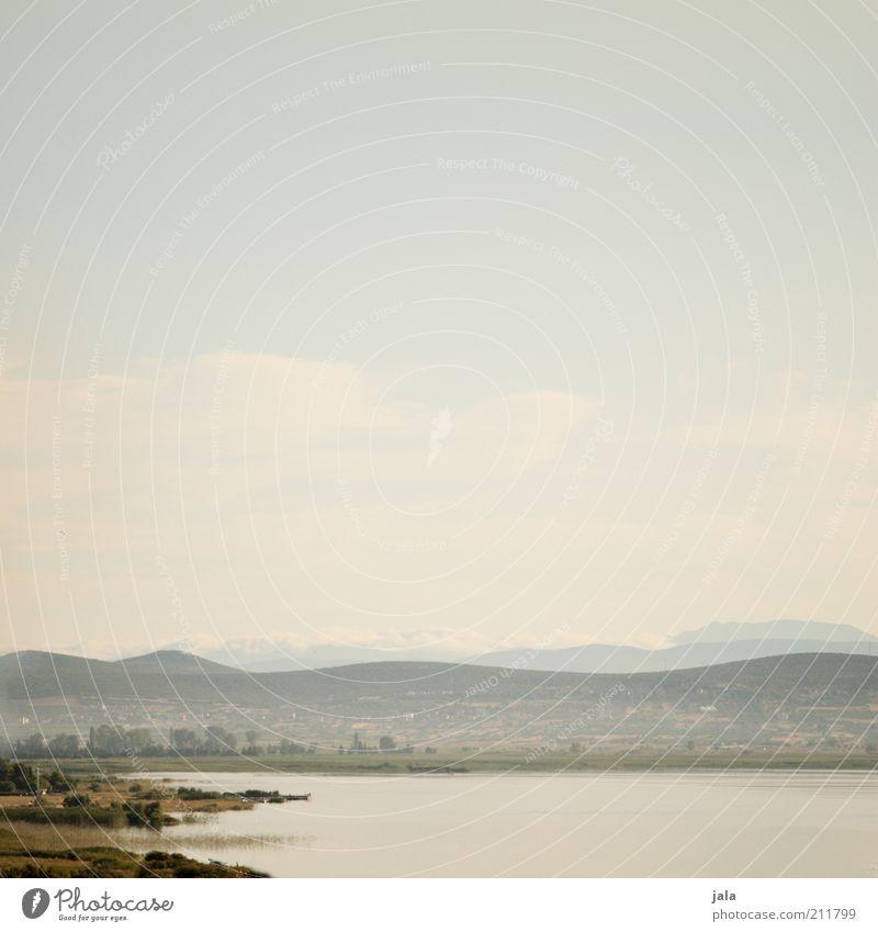 kroatien - blick ins land Natur Landschaft Himmel Sommer Pflanze Hügel Berge u. Gebirge See Kroatien Unendlichkeit Farbfoto Menschenleer Textfreiraum oben