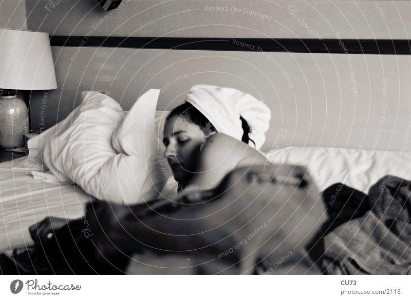 GIRL Frau Mensch Erholung schlafen
