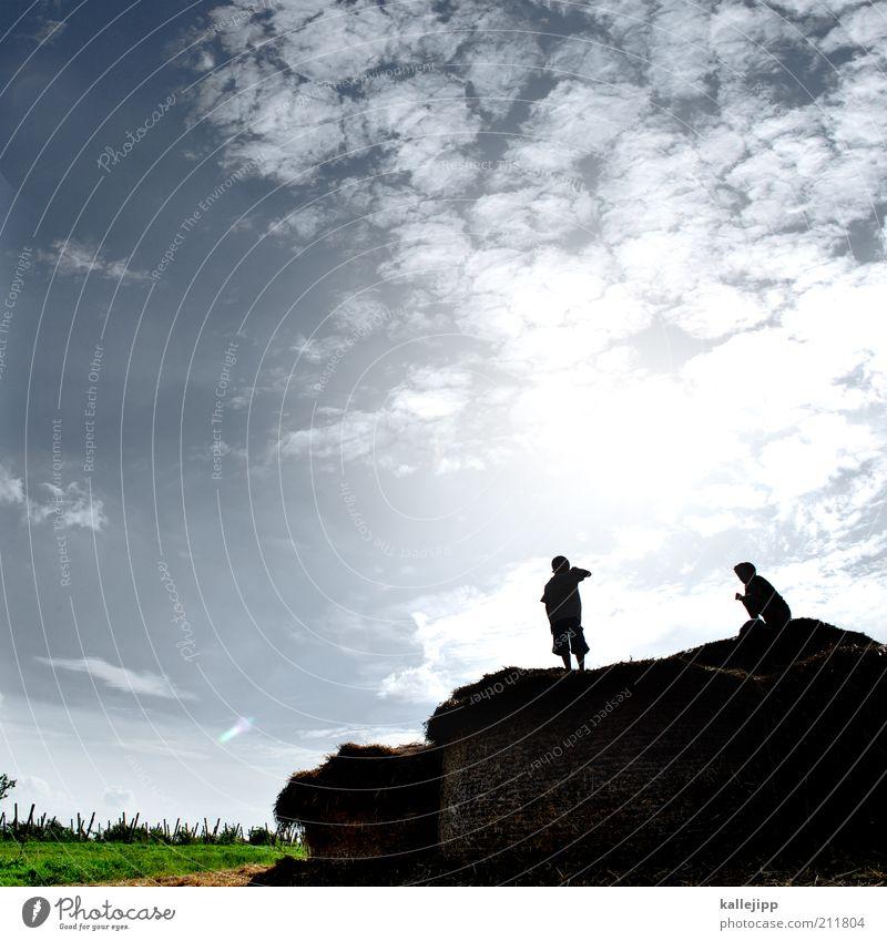 reinhold und messner Mensch Kind Himmel Natur Sonne Ferien & Urlaub & Reisen Sommer Wolken ruhig Ferne Erholung Leben Umwelt Spielen Landschaft Freiheit