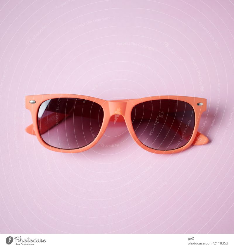 Sonnenbrille Ferien & Urlaub & Reisen Sommer rot rosa orange Freizeit & Hobby ästhetisch Coolness Sommerurlaub Sonnenbrille Accessoire