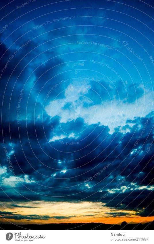 Hoffnung Himmel Wolken Himmel (Jenseits) Landschaft Wetter Umwelt Wandel & Veränderung Glaube Abenddämmerung himmlisch Optimismus Natur Neuanfang Textfreiraum