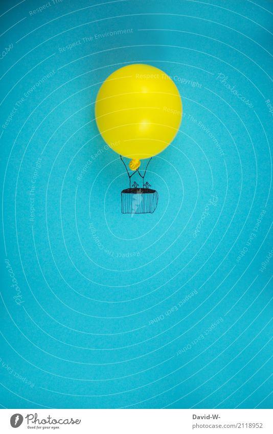 (Heiß)luftballon Mensch Frau Ferien & Urlaub & Reisen Jugendliche Mann Junge Frau Junger Mann Ferne Erwachsene Leben feminin Kunst außergewöhnlich Freiheit Paar
