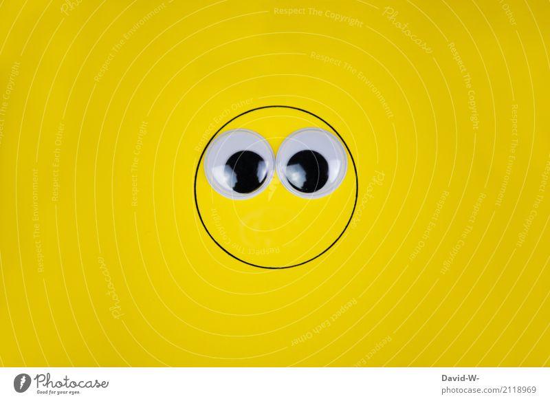 Große Augen Mensch Jugendliche Mann Gesicht Erwachsene Leben gelb Lifestyle Stil Familie & Verwandtschaft Kunst Party Kopf Feste & Feiern Design