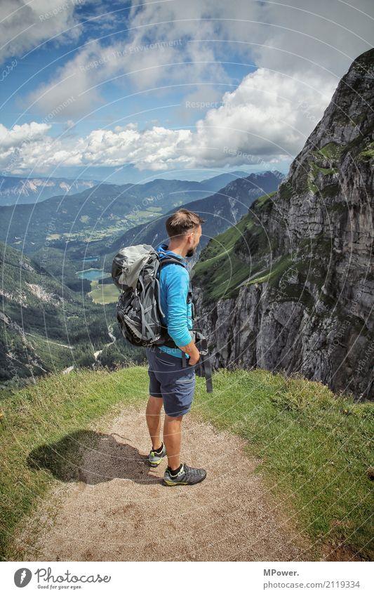 auf dem mangart Mensch Ferien & Urlaub & Reisen Mann schön Landschaft Freude Berge u. Gebirge Erwachsene Umwelt Wege & Pfade Sport Glück außergewöhnlich Felsen