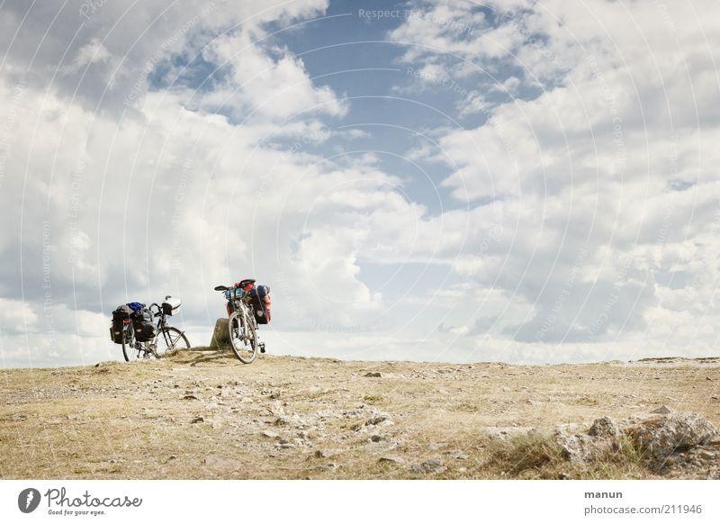 Drahtesel Natur Ferien & Urlaub & Reisen Einsamkeit Ferne Erholung Landschaft Wärme Freiheit Erde Fahrrad Felsen Freizeit & Hobby wandern Ausflug Tourismus