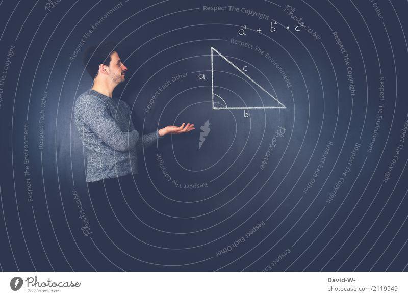 Mathematik Formel Mensch Jugendliche Mann Junger Mann Erwachsene Leben Lifestyle Business Schule maskulin Erfolg lernen Studium Bildung Erwachsenenbildung