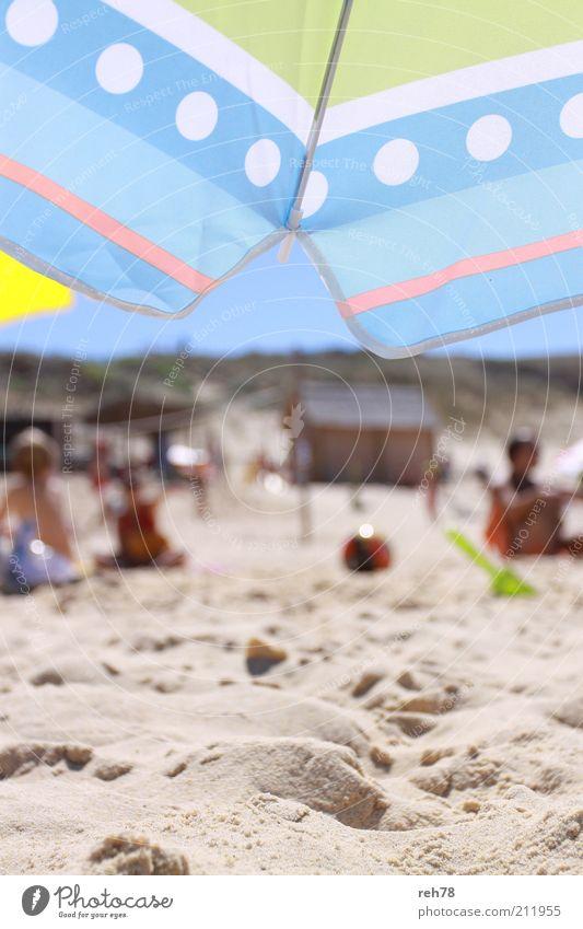 Aquitanien blau Sommer Strand Ferien & Urlaub & Reisen gelb Spielen Sand Wärme Landschaft Ausflug Lifestyle Tourismus Freizeit & Hobby entdecken Sonnenschirm