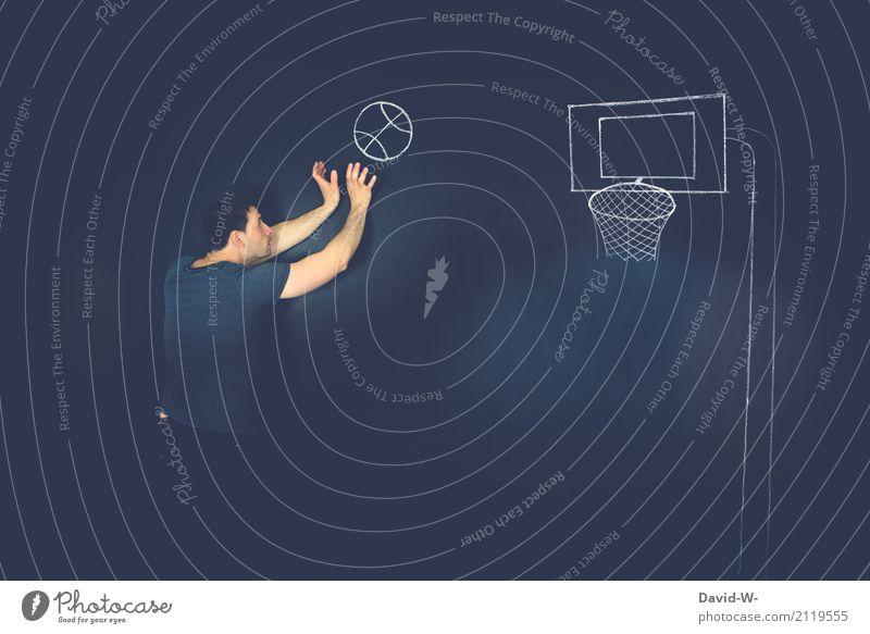 Ballsport Mensch Mann ruhig Freude Erwachsene Leben Sport Bewegung Kunst Zufriedenheit maskulin Kreativität Erfolg Fitness Ziel sportlich