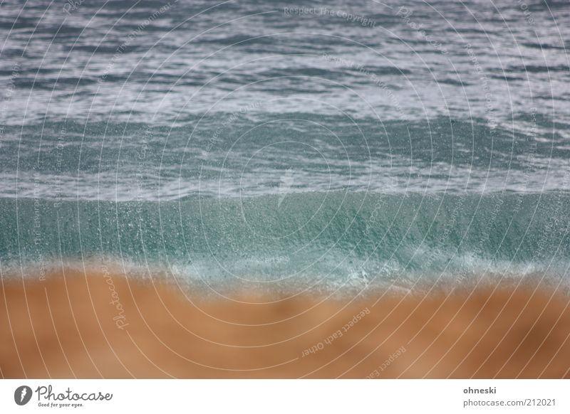 Big Beach Wasser Meer Strand Sand Küste Wellen Wassertropfen Urelemente Unschärfe