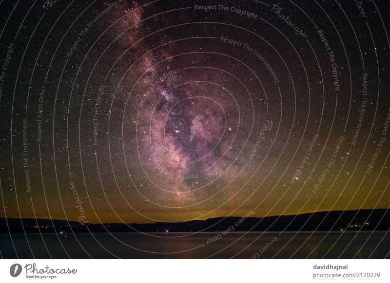Milchstraße über dem Bodensee Ferien & Urlaub & Reisen Tourismus Ausflug Freiheit Sommer Sommerurlaub Wissenschaften Infrarotaufnahme Astronomie Landschaft Luft