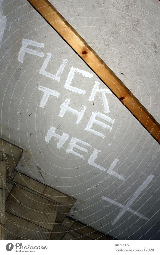 LOVE THE HEAVEN weiß Freude Wand Gefühle Mauer Denken Linie Graffiti Kunst dreckig verrückt Lifestyle Treppe Schriftzeichen Dekoration & Verzierung