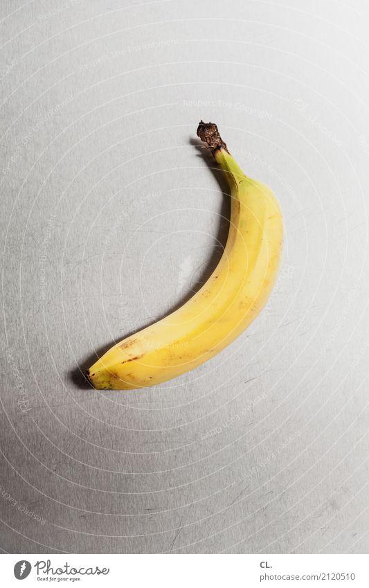 banane auf metall gelb Kunst außergewöhnlich Lebensmittel Design Frucht Metall Ernährung ästhetisch Kreativität einzigartig Idee Zeichen Bioprodukte Frühstück