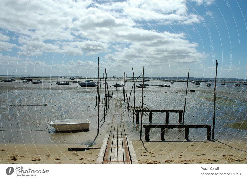 Cap Ferret Natur Wasser Himmel Meer blau Sommer Strand Ferien & Urlaub & Reisen ruhig Wolken Ferne Freiheit Sand Landschaft Wasserfahrzeug Umwelt