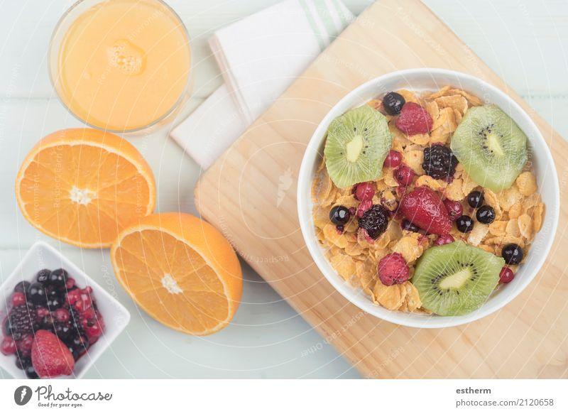 gesundes Frühstück Lebensmittel Frucht Orange Getreide Ernährung Getränk Limonade Saft Geschirr Schalen & Schüsseln Becher Lifestyle Gesunde Ernährung