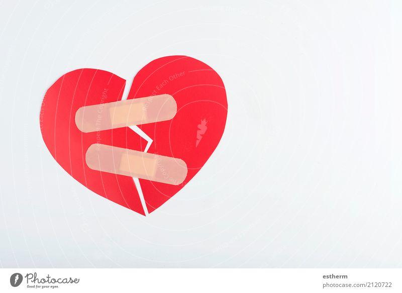 rotes gebrochenes Herz Gesundheitswesen Behandlung Familie & Verwandtschaft Paar Krankheit Wut Gefühle Zusammensein Treue Romantik Trauer Enttäuschung Stress