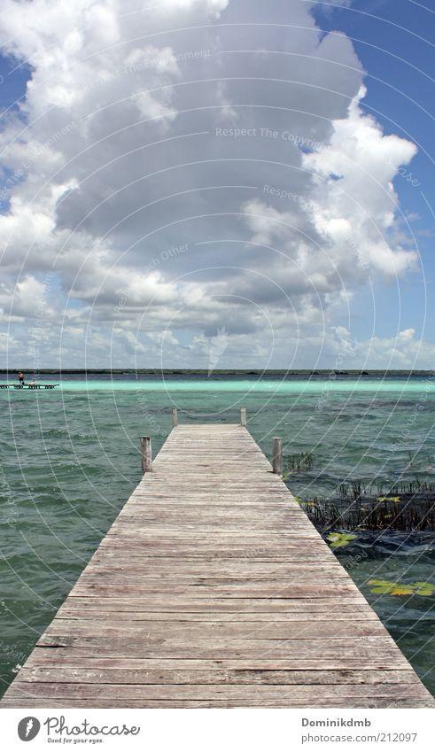 Freiheit Himmel Natur Wasser blau Sonne Ferien & Urlaub & Reisen Meer Wolken ruhig Ferne Erholung Holz Glück träumen Wärme