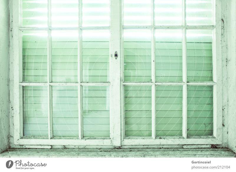 Bis hierhin Fenster hell Fensterrahmen Fensterscheibe Fensterkreuz Fensterfront Rollladen geschlossen verfallen kaputt alt verrotten Lichteinfall Lichtstrahl