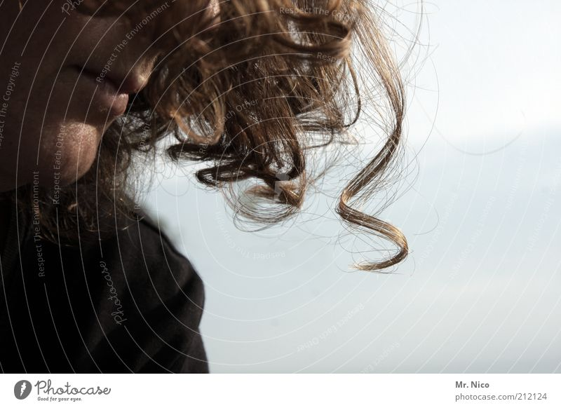 § feminin Frau Erwachsene Kopf Haare & Frisuren Nase Mund Lippen rothaarig Locken Wärme weich Vertrauen Schutz Warmherzigkeit ruhig einzigartig natürlich Duft
