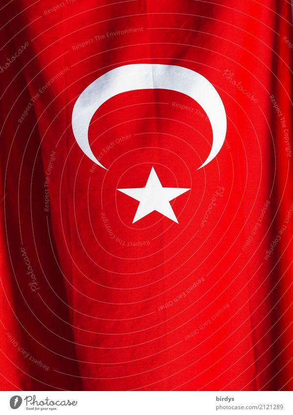 Türkei Medien Zeichen Fahne leuchten ästhetisch authentisch Originalität grau rot weiß Macht Gastfreundschaft Solidarität Verantwortung Gerechtigkeit Hoffnung