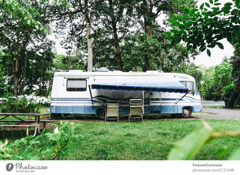 Roadtrip West Coast USA (264) Ferien & Urlaub & Reisen Baum Reisefotografie Verkehr Idylle Abenteuer schlafen Pause Rasen Personenverkehr Camping gemütlich