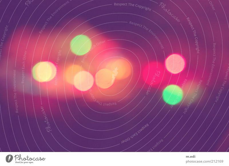 Bokeh Kunst mehrfarbig Kitsch schön Surrealismus Innenaufnahme Licht Schatten Silhouette Lichtpunkt Lichterscheinung mehrere viele abstrakt Unschärfe Lichtspiel