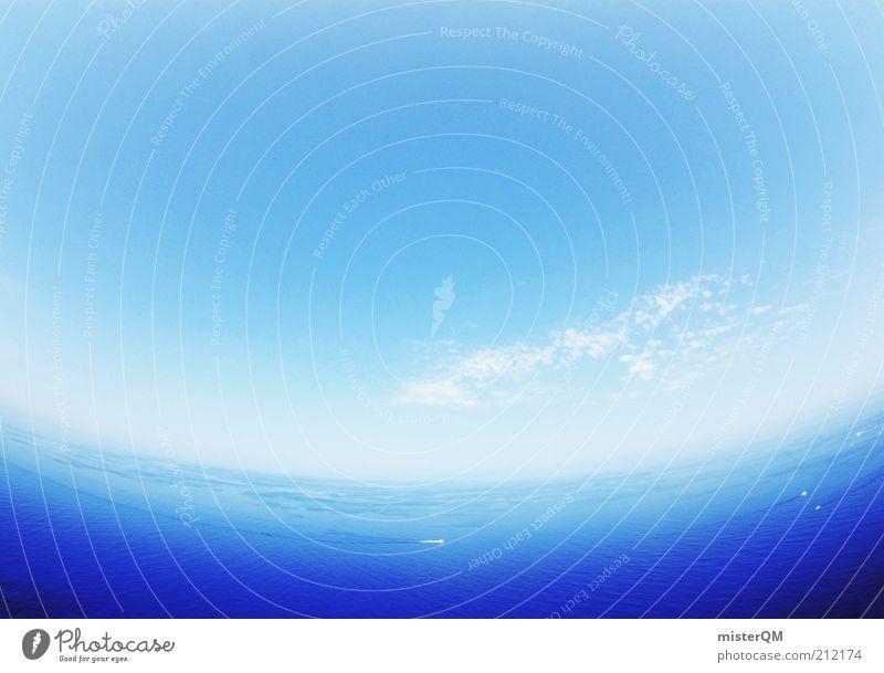 Blue Planet. Wasser Himmel Meer blau Ferien & Urlaub & Reisen Wolken Ferne Freiheit Wärme Luft Wetter Tourismus abstrakt Spanien Schönes Wetter harmonisch