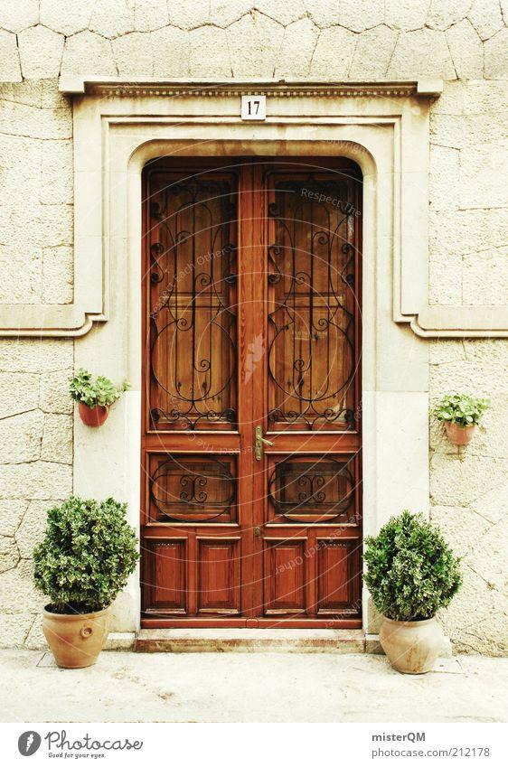 C'est la door. schön ruhig Holz Architektur Tür geschlossen ästhetisch Tor Eingang historisch Spanien Museum antik Mallorca Ziffern & Zahlen