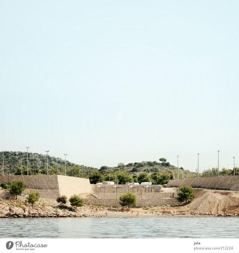 festung Himmel Baum Meer Sommer Ferien & Urlaub & Reisen Wand Mauer Gebäude Landschaft Küste Architektur einzigartig Bauwerk Kies Sommerurlaub Festung