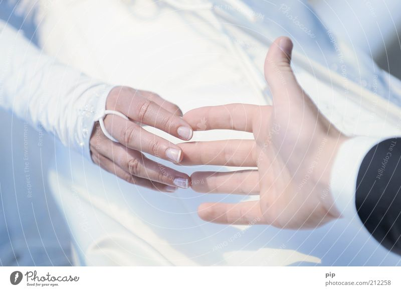 trau dich Mensch Junge Frau Jugendliche Junger Mann Erwachsene Familie & Verwandtschaft Paar Partner Arme Hand Finger 2 18-30 Jahre Kleid Anzug Brautkleid