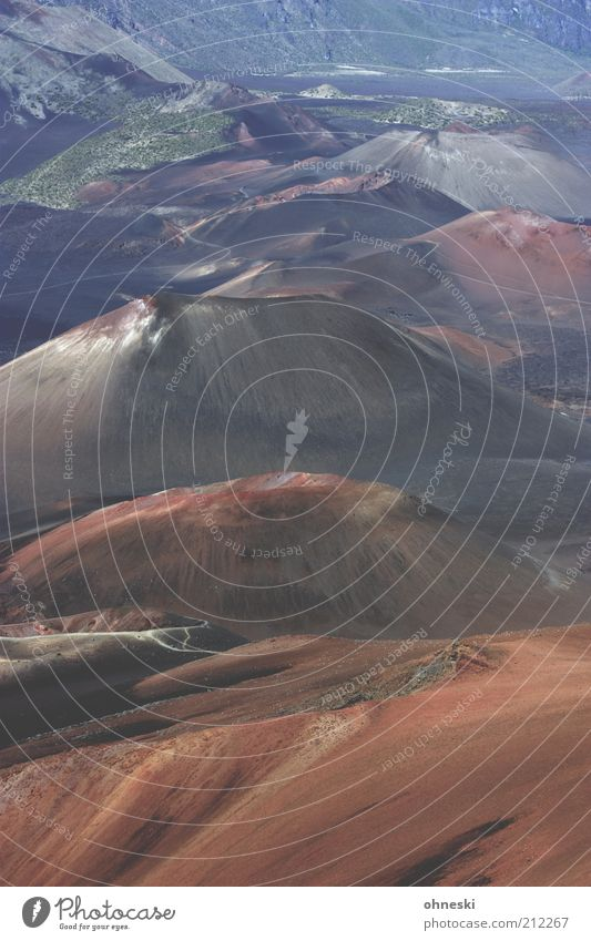Mars Natur Landschaft Urelemente Erde Hügel Berge u. Gebirge Vulkan Haleakala Vulkankrater Farbfoto Außenaufnahme Tag Menschenleer vulkanisch Reisefotografie