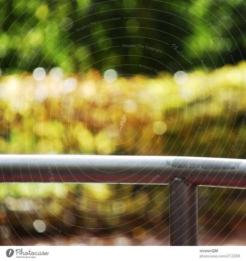 Verlassen. Natur schön Baum grün Sommer ruhig Einsamkeit Herbst Garten Park Wärme Zufriedenheit gold ästhetisch Zukunft Freizeit & Hobby