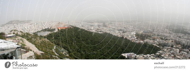 Urban Life - Athen im Dauersmog Stadt grün Ferien & Urlaub & Reisen Haus Ferne grau dreckig Nebel Umwelt groß Horizont Perspektive Wachstum Tourismus Aussicht